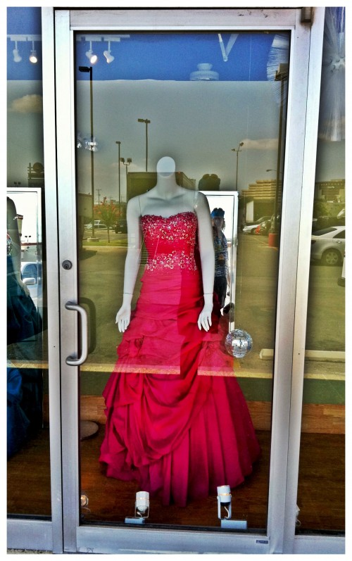 Red Dress Display