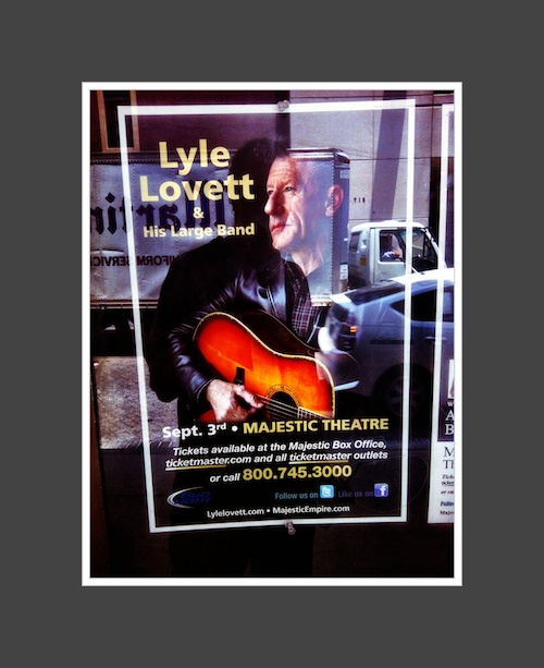 Lyle Lovett Poster and Reflection