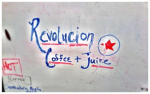 Cafe Revolucion White Board