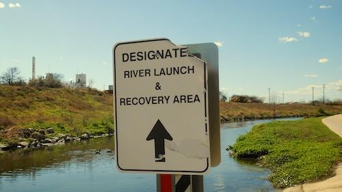 designated boat launch