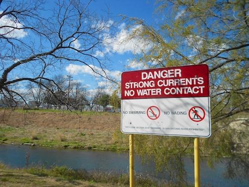 Danger No Water Contact