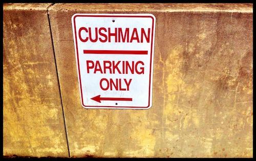 Cushman Parking Only