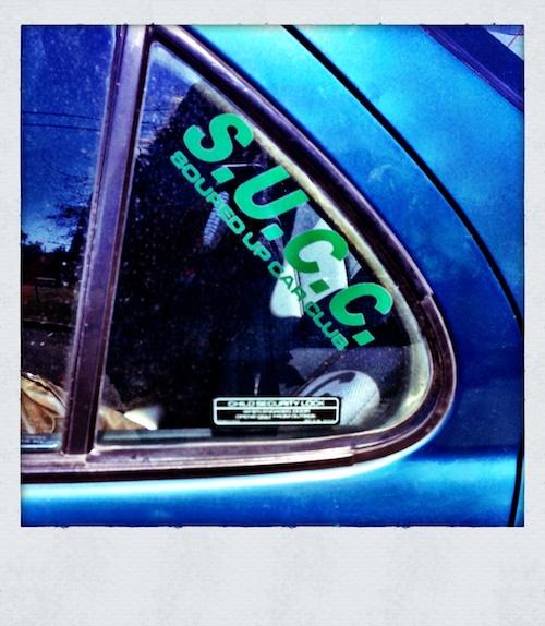 Souped Up Car Club sticker