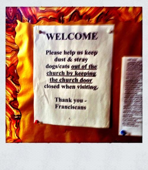 Please Close the Sanctuary Door