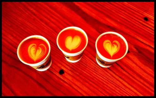 Local Coffee's Three of Hearts