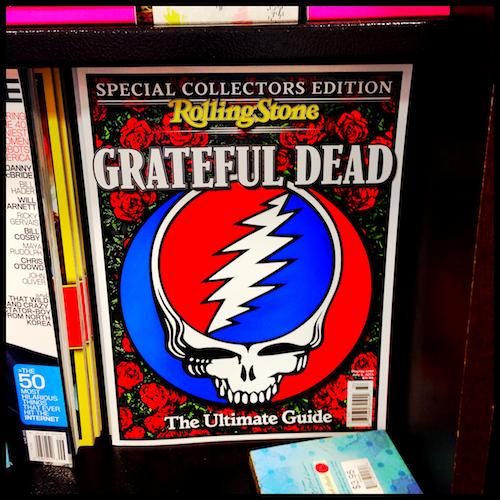 Grateful Dead in the magazine rack