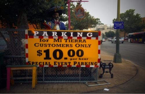 Parking Ten Bucks