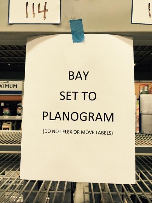 Bay Set to Planogram