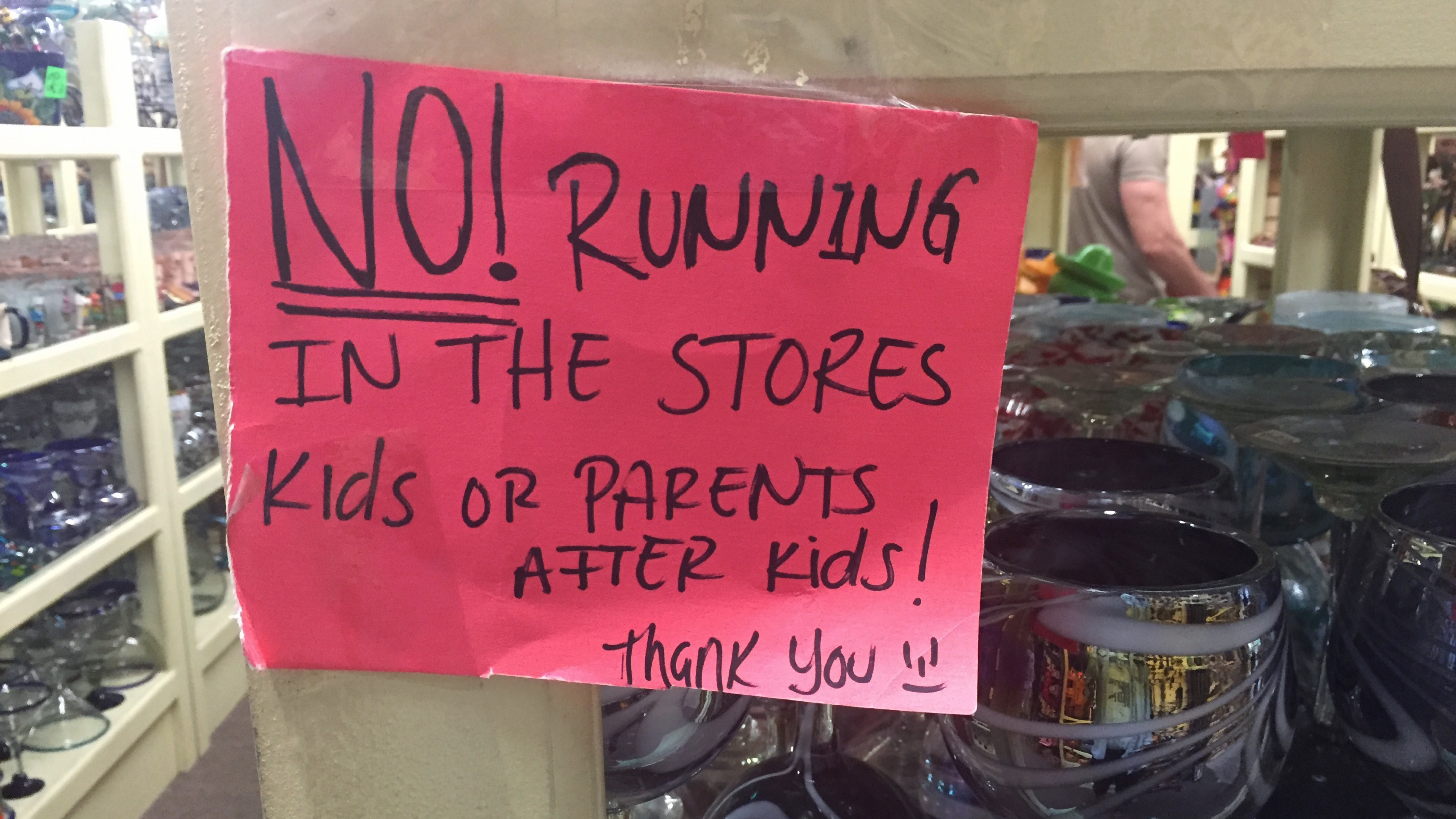 No Running in the Store