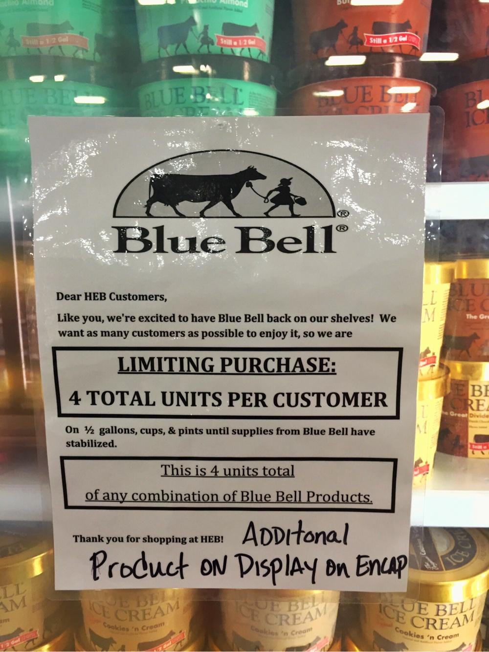 Blue Bell Notice