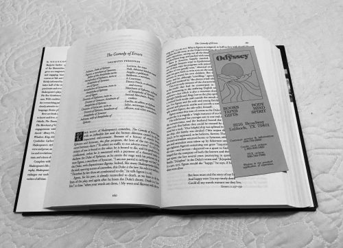 Comedy of Errors with Bookmark