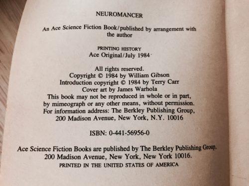 Neuromancer Front Matter
